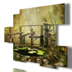 Quadro moderno - Giardinaggio - Multipannello e multilivello 3D