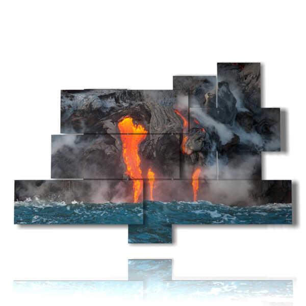 cuadro paisaje de lava