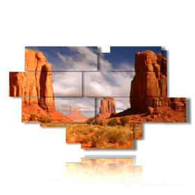 Modern picture with landscape photos at Monument Valley