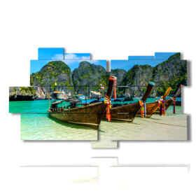quadri barche sulla riva