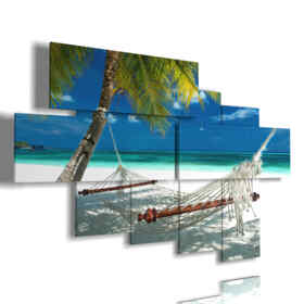 painting Maldives beach