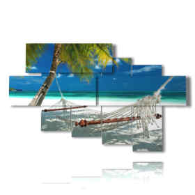 quadro spiaggia Maldive