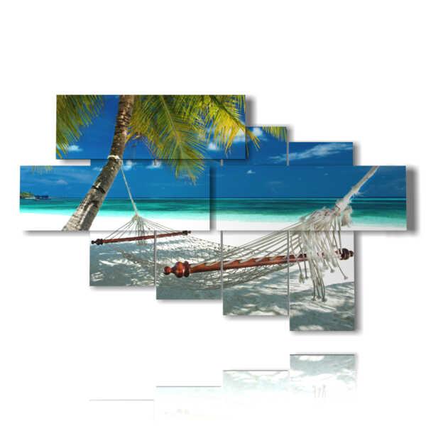 cuadro de la playa de Maldives