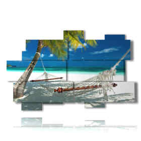 Printed picture - Landscape 02 - Multipanel and multilevel 3D. Large size