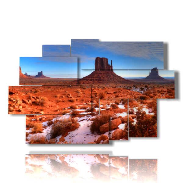 tableaux avec paysage de Monument Valley en Arizona