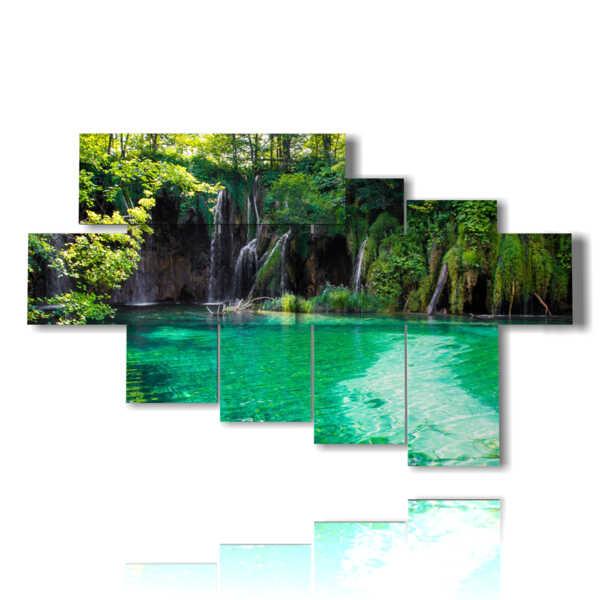 immerso nel verde per i quadri al lago di Plitvice in Croazia