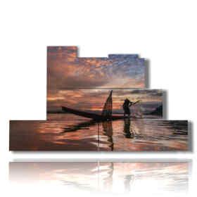 tableaux avec des tableaux modernes abstraites du pêcheur