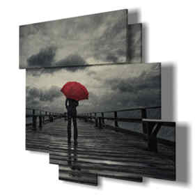 quadri moderni - Rosa 02 - centro