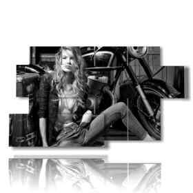 Moderne Frauen und Motoren Bilder