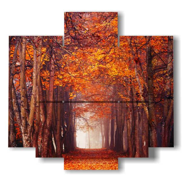 bosque cuadro del otoño