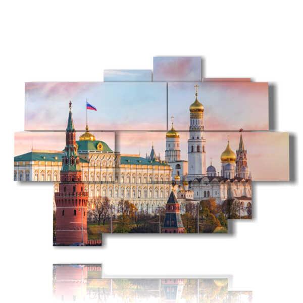 quadro con foto chiese di Mosca