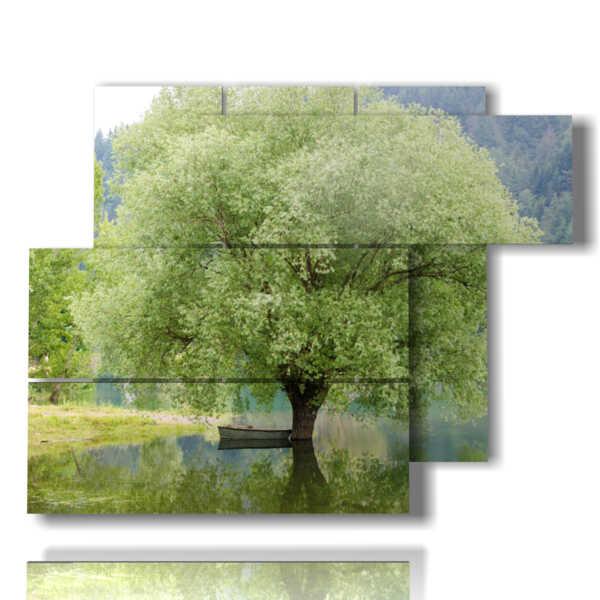 Modern green tree paintings