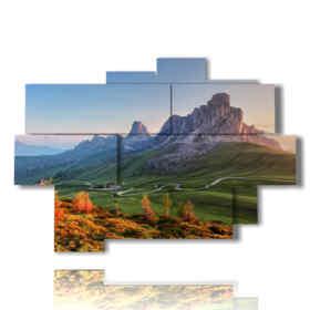 quadri paesaggi montani - Passo di giau