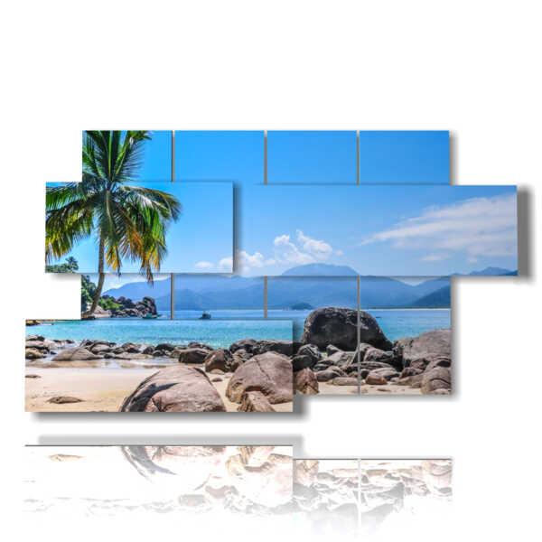 Des tableaux parfaites à Paradise Beach plage plage idyllique dans Ilha Grande, Rio do Janeiro