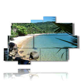 quadri con paesaggi di mare a Rio in Brasile