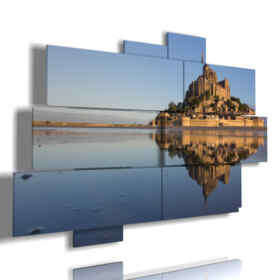 Mont Saint Michel sea paintings in France