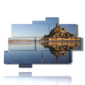 mare quadri-Mont Saint Michel in Francia