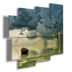 cuadro con tormenta eléctrica en el mar