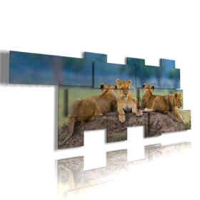 Quadro moderno - Cucciolo 03 - Multipannello e multilivello 3D
