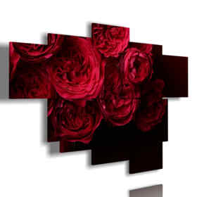 quadri rose rosse