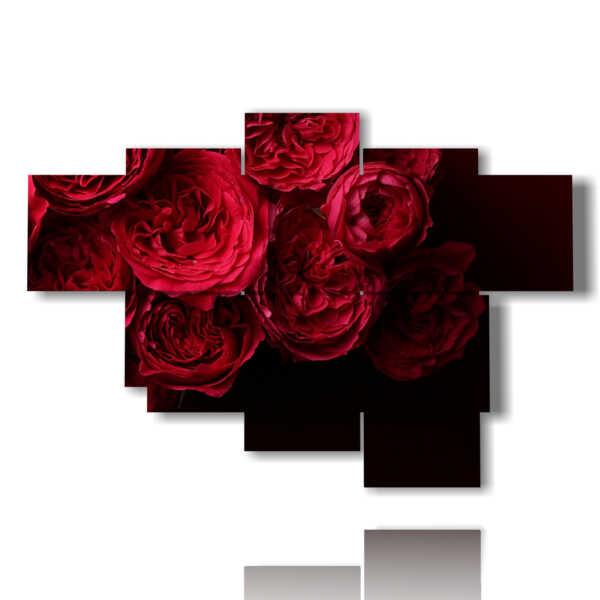 quadri rose rosse