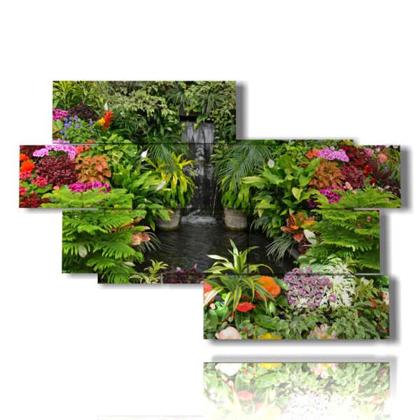 tableaux florales colorées modernes
