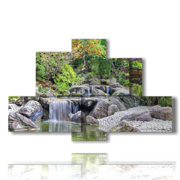 Cascadas cuadros en el espectáculo de la naturaleza