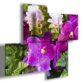 quadri astratti con fiori viola
