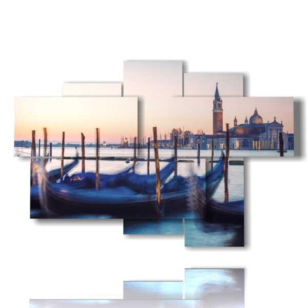 quadri Venice Italy gondole in attesa