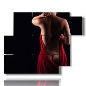 photos nues de femme de soie rouge