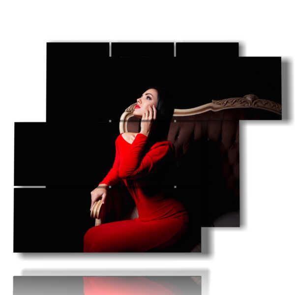 tableaux avec photos sensuelles en rouge bonne nuit