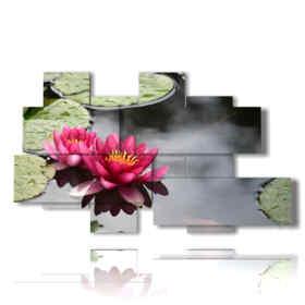 imagen moderno flores de lis púrpura