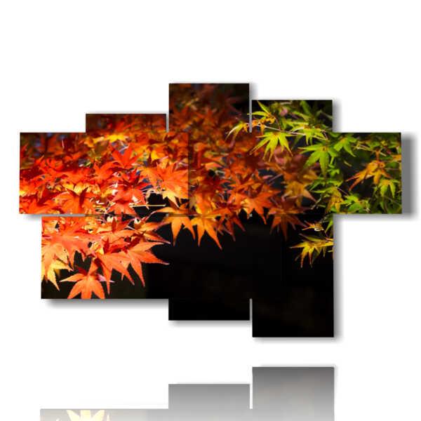 les feuilles d'automne tableaux