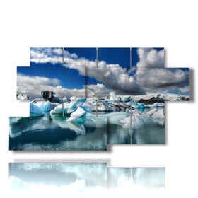 quadri inverno con ghiaccio
