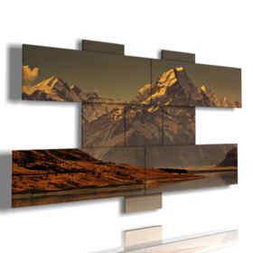 paintings of mountain landscapes Mount Cook - New Zealand