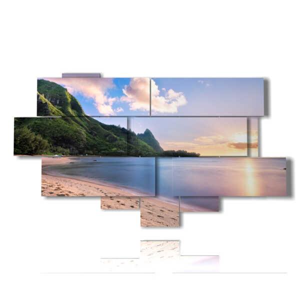 photos avec la mer et la montagne à Bali Hai