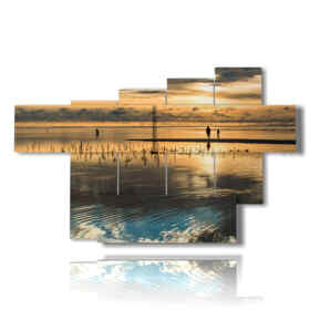 sunsets modern paintings fantastic on the sea