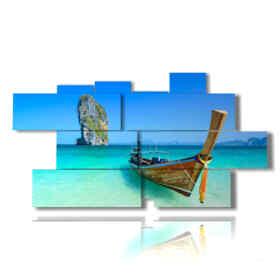 quadri barche in riva