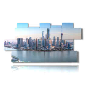Modern picture with photos of Shanghai China