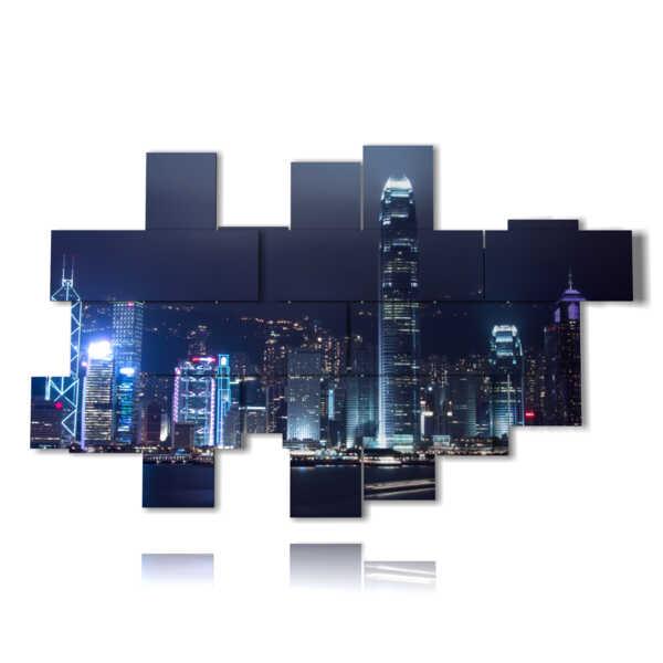 imaginar con fotos de Hong Kong en la noche
