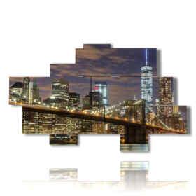 quadri moderni new york avvicinandosi alla sera