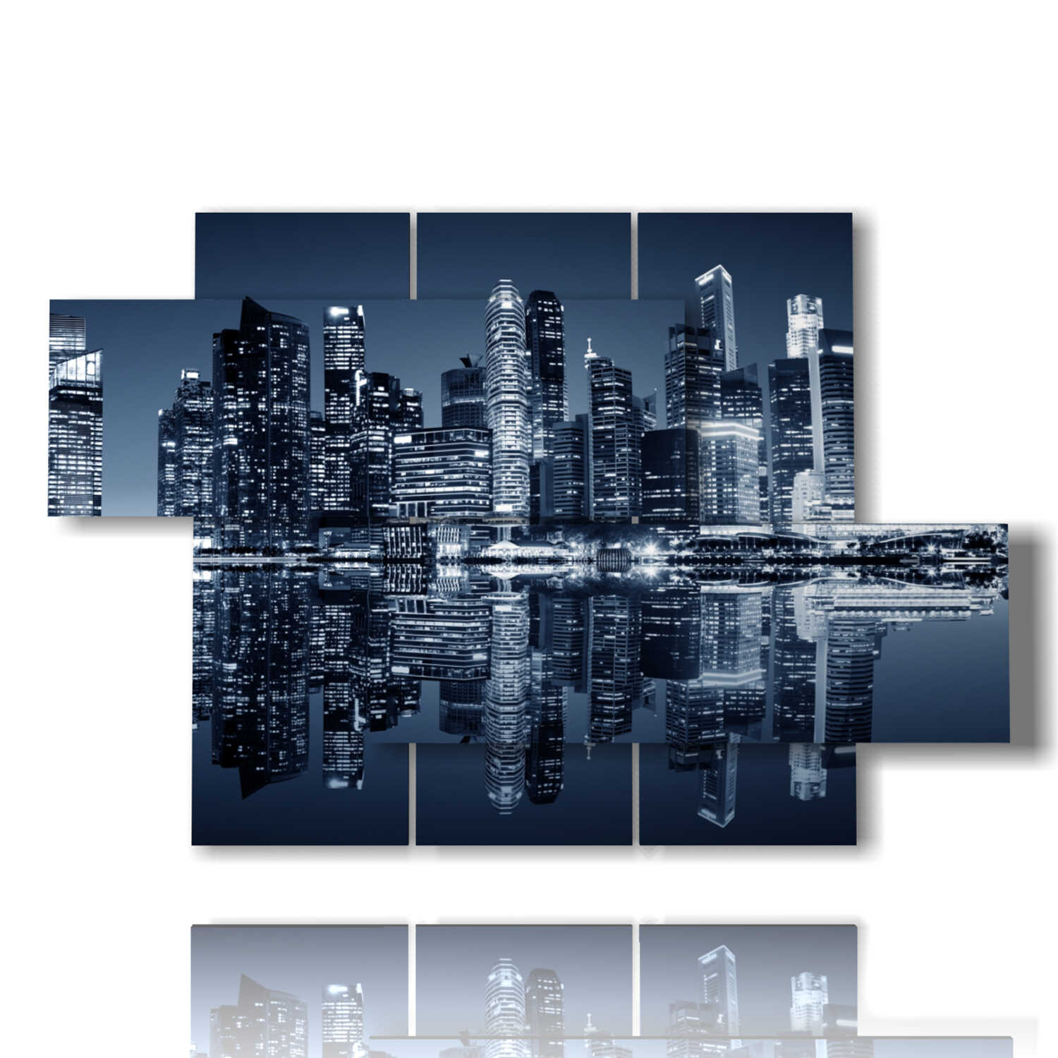 picture with photos Singapore at night 3D design by DUUDAART
