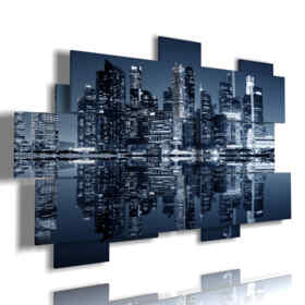 Printed picture - Abstract 21 - Multipanel and multilevel 3D. Large size