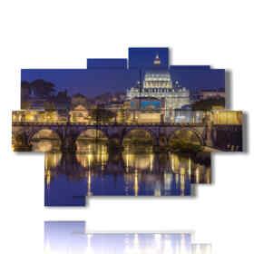 cuadro moderno Roma - Castel Sant'Angelo 03