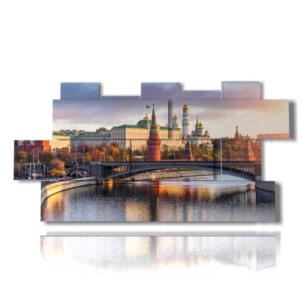 cuadro con fotos de Moscú