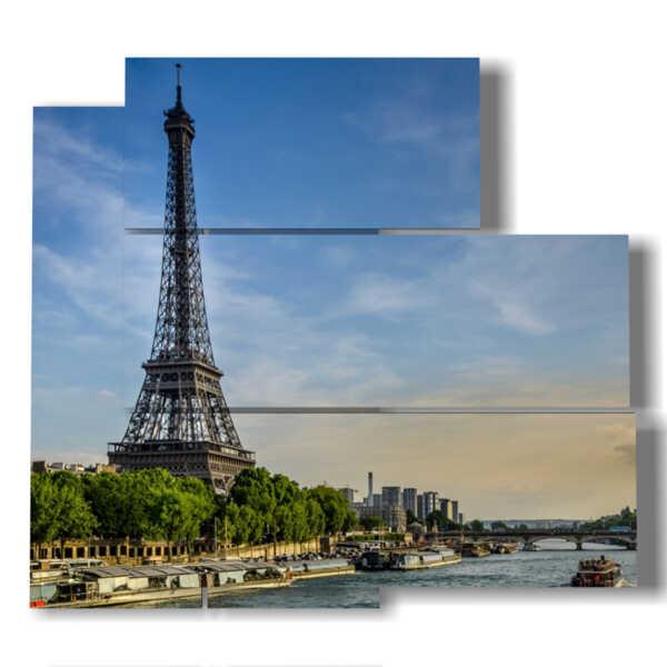 quadri di Parigi e la Torre Eiffel