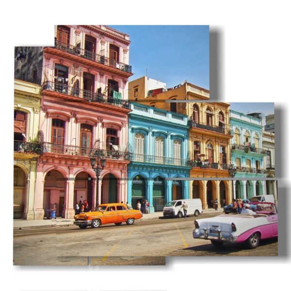 tableaux cuba pour une promenade dans la ville