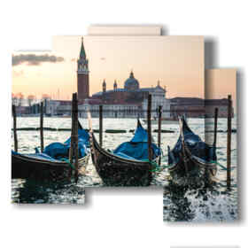 Modern paintings modern Venice gondolas and campanile of San Marco