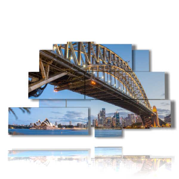 Fotos Torre de Sydney cuadro del puente del puerto