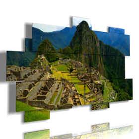 quadro paesaggio moderno Machu Picchu